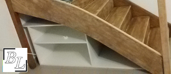placard1 - Réaliser facilement un placard sous escalier - DIY