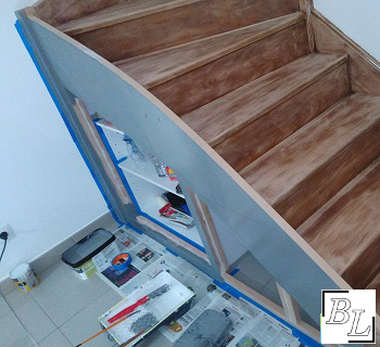 placard6 - Réaliser facilement un placard sous escalier - DIY