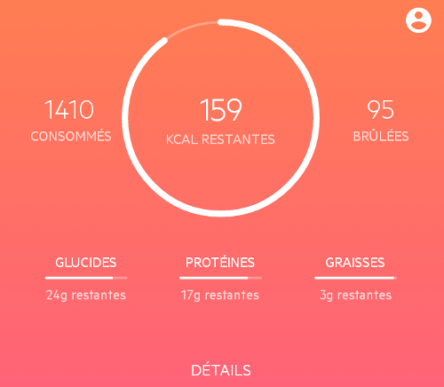 Lifesum - Calculs des calories et nutriments