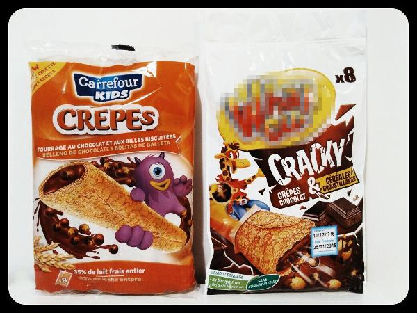 Comparaison de deux produits - Marques : distributeur et nationale