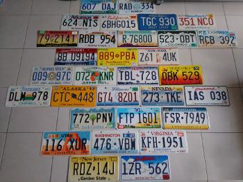 decous2 - Réaliser une décoration avec des plaques d'immatriculation US