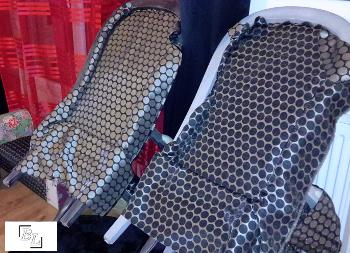 Pose tissu sur fauteuil Voltaire