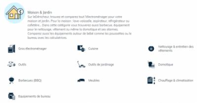 Le Denicheur Sous categories e1614034896658 - Le Dénicheur donne t'il les meilleurs prix ? Test et avis